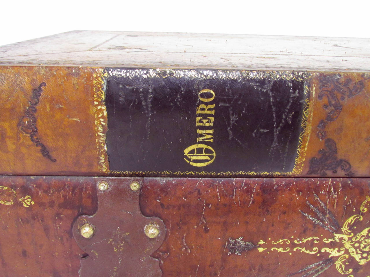 Italian Leather Book Form Table in manner of Maitland - Smith 6