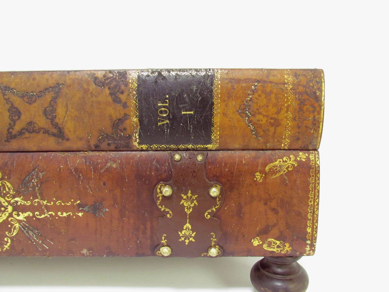 Italian Leather Book Form Table in manner of Maitland - Smith 9