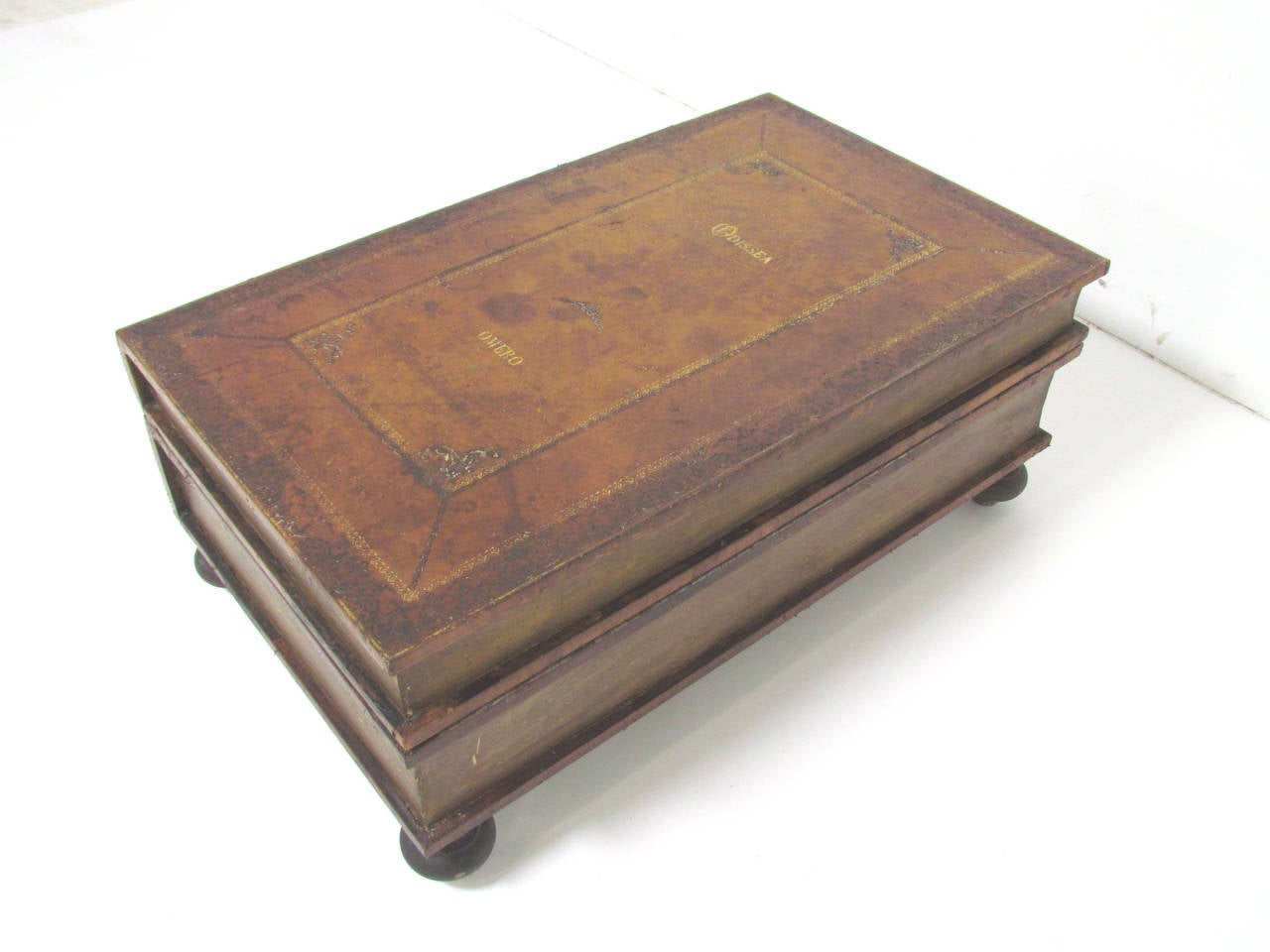 Italian Leather Book Form Table in manner of Maitland - Smith 7
