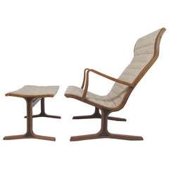 Sculptural Lounge Chair and Ottoman by Mitsumasa Sugasawa for Tendo Mokko