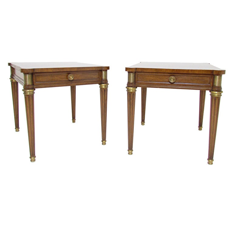 Pair Of Baker Furniture Neoclassical End Tables Ca 1960s