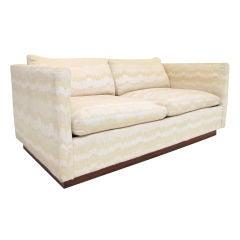 Sleek  Loveseat Sofa by Milo Baughman for Thayer-Coggin