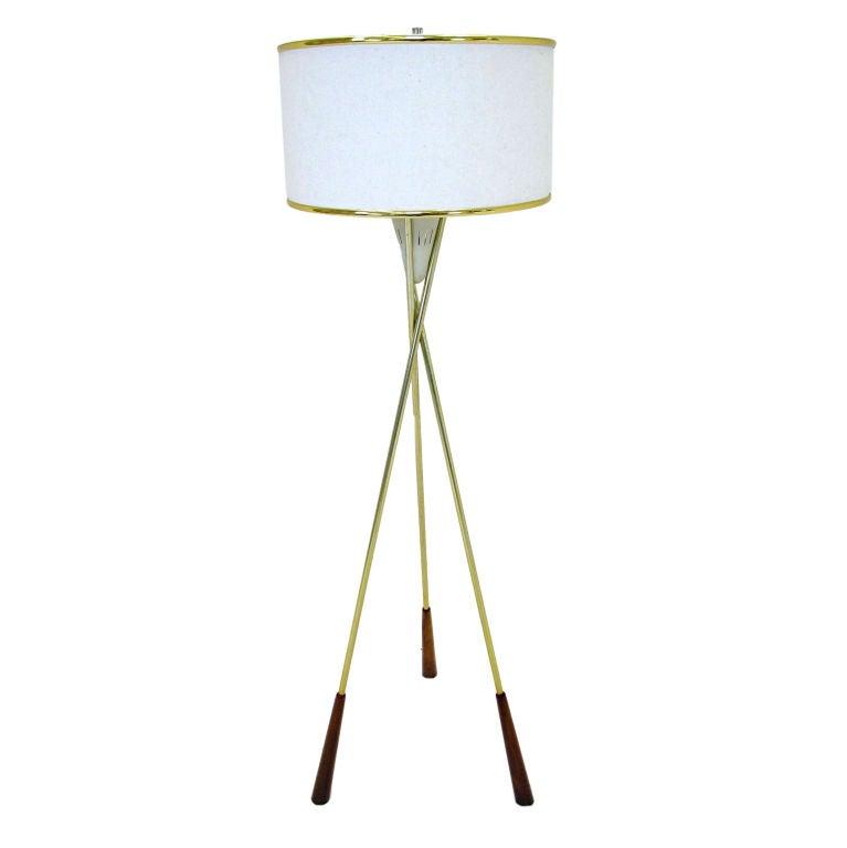 Tripod Floor Lamp by Gerald Thurston for Lightolier ca. 1960s
