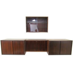 Danish Rosewood Wall Mounted Cabinets by Cado ca. 1960s