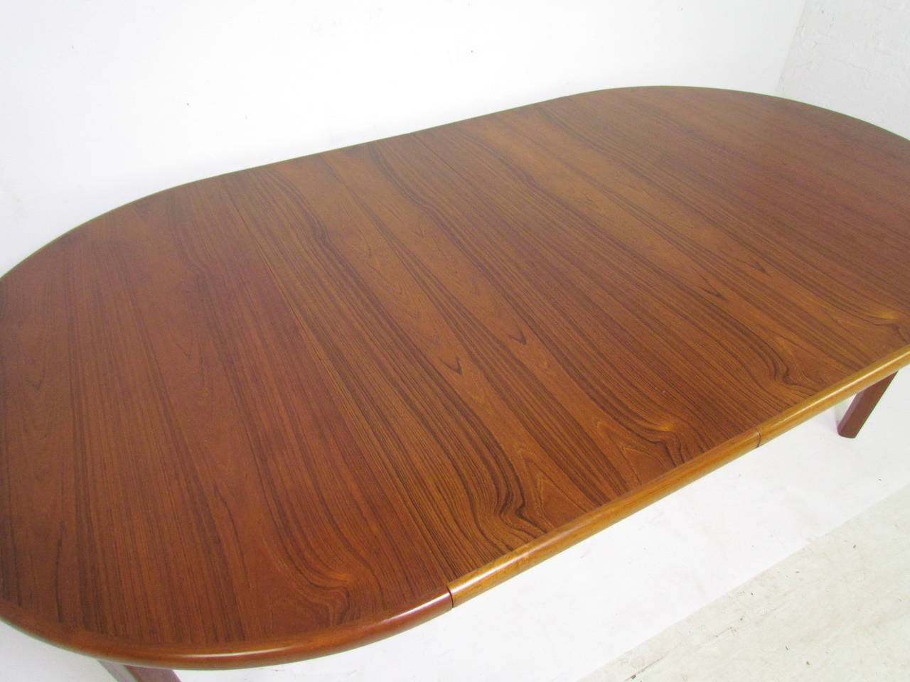 Danish Teak Round Expandable Dining Table By Rasmus At 1stdibs