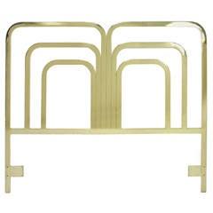 Queen Headboard in Brass by Milo Baughman for Design Instiute America (DIA)