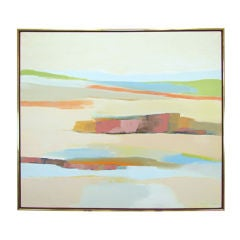 Abstract Expressionist Oil Painting by Listed Artist Irene Moss