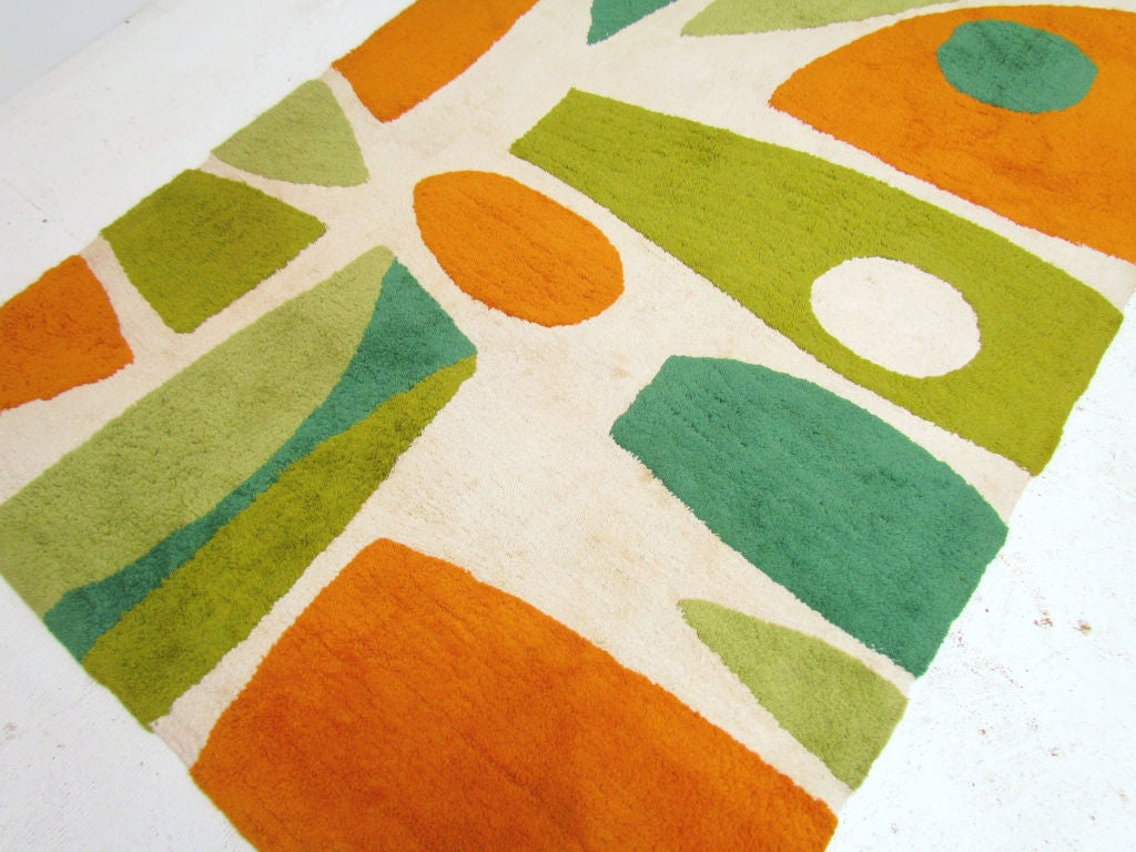 Mid century modern abstract area rug at 1stdibs for Area rugs contemporary modern