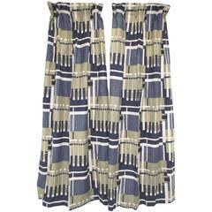 "Nine Panels of Frank Lloyd Wright ""Taliesin Line"" Curtains, circa 1950s"