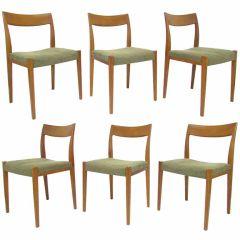 Set of Six Swedish Teak Dining Chairs by Yngve Ekstrom
