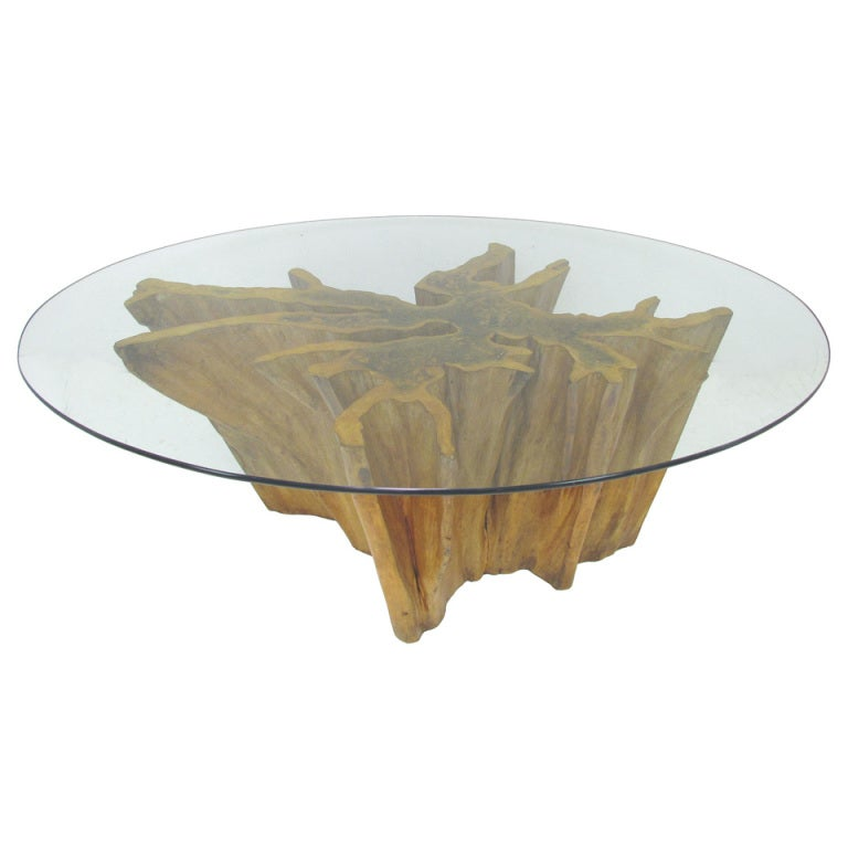 Xxx bakertreetab for Tree trunk dining table
