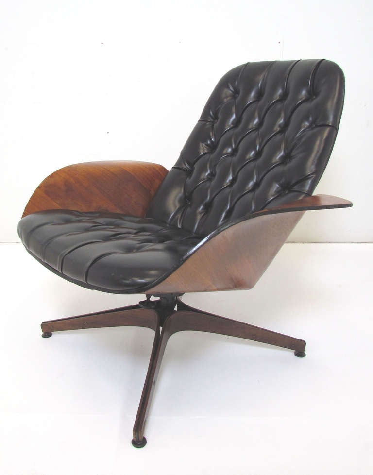 Mid-Century Swivel High Back Lounge Chair by George Mulhauser for Plycraft 2