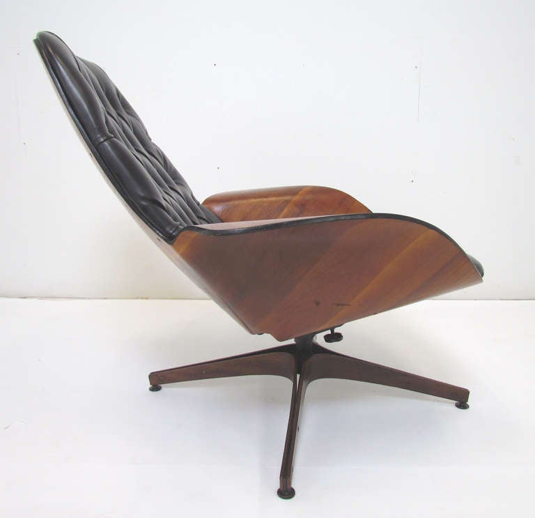 Mid-Century Swivel High Back Lounge Chair by George Mulhauser for Plycraft 3