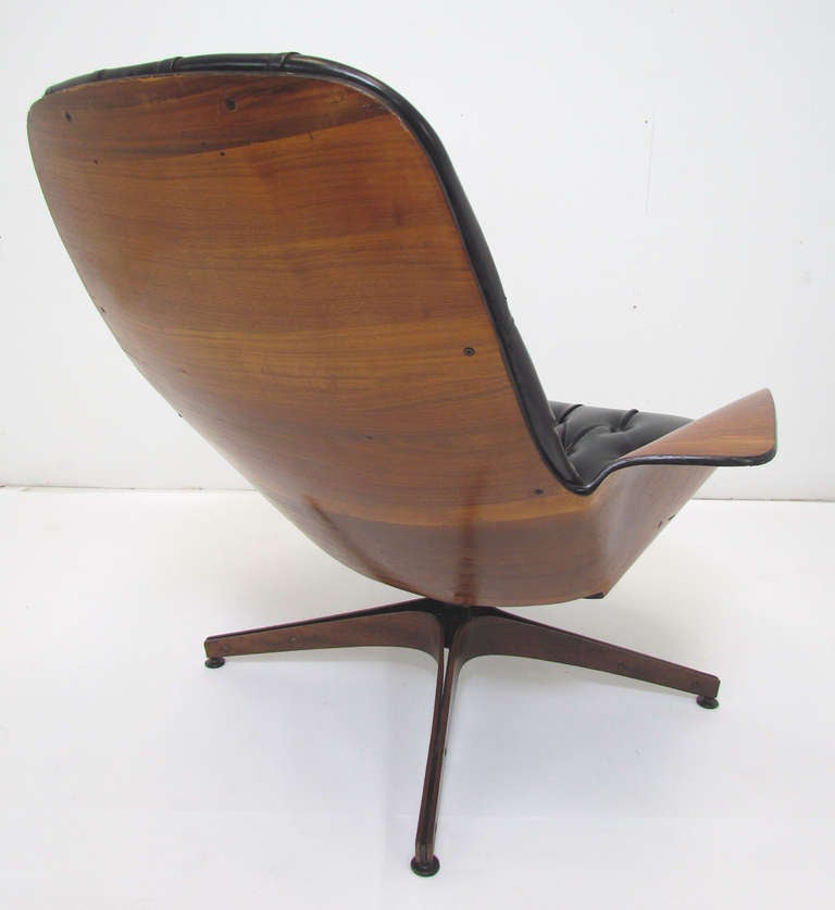 Mid-Century Swivel High Back Lounge Chair by George Mulhauser for Plycraft 5