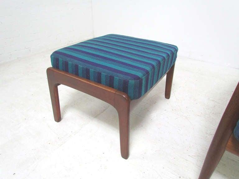 Danish Teak Lounge Chair by Grete Jalk with Ottoman for France & Daverkosen 3