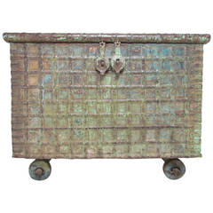 Antique 19th Century Damchiya, Indian Dowry Chest
