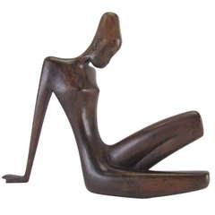 Signed Hagenauer Werkstatte African Nude Wood Sculpture