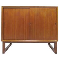 Small Danish Two-Door Teak Cabinet by Poul Cadovius (Cado)