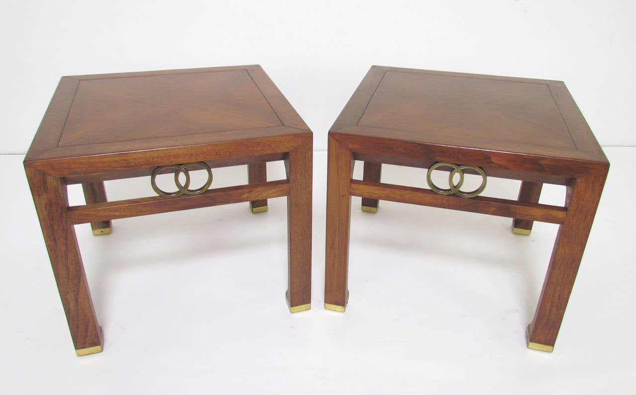 Pair of End Tables by Michael Taylor for Baker Furniture
