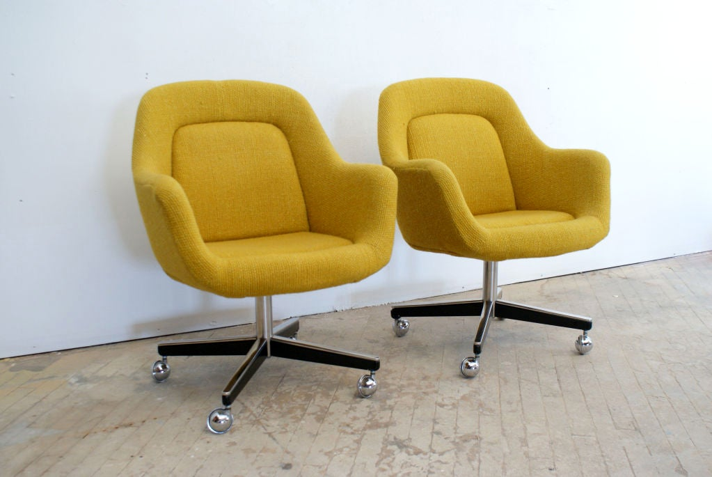 office chairs designed by max pearson for knoll ca 1970s