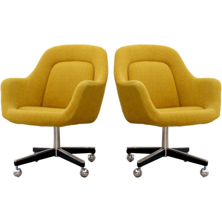 office chairs designed by max pearson for knoll ca 1970s at 1stdibs