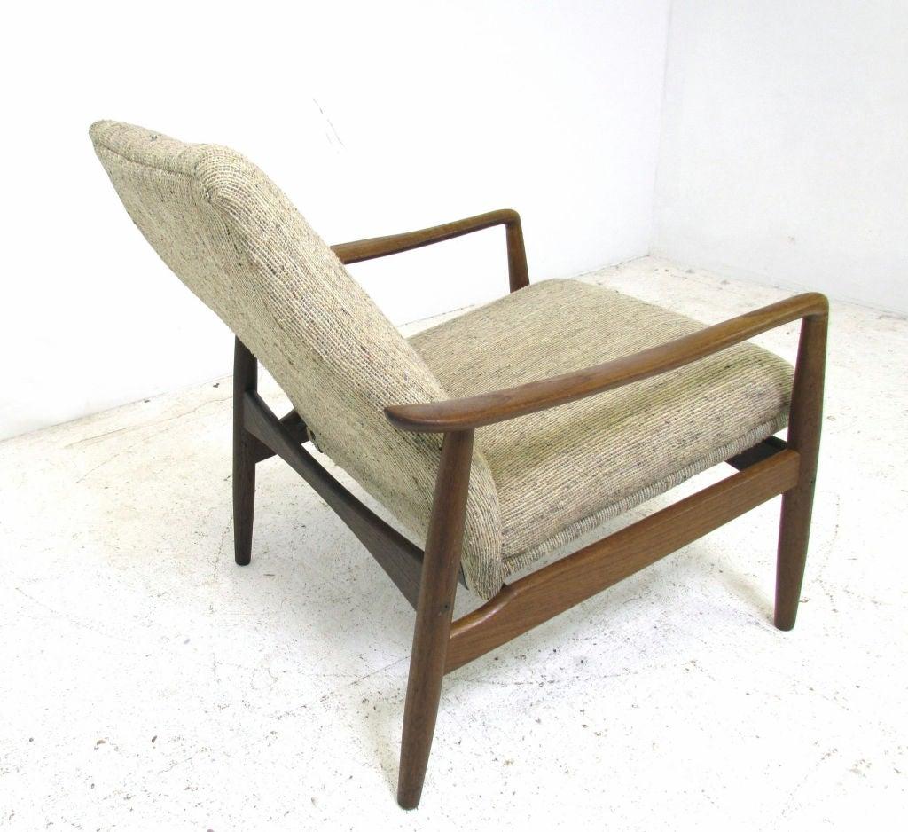 Reclining Danish Teak Easy Chair By Soren J Ladefoged At