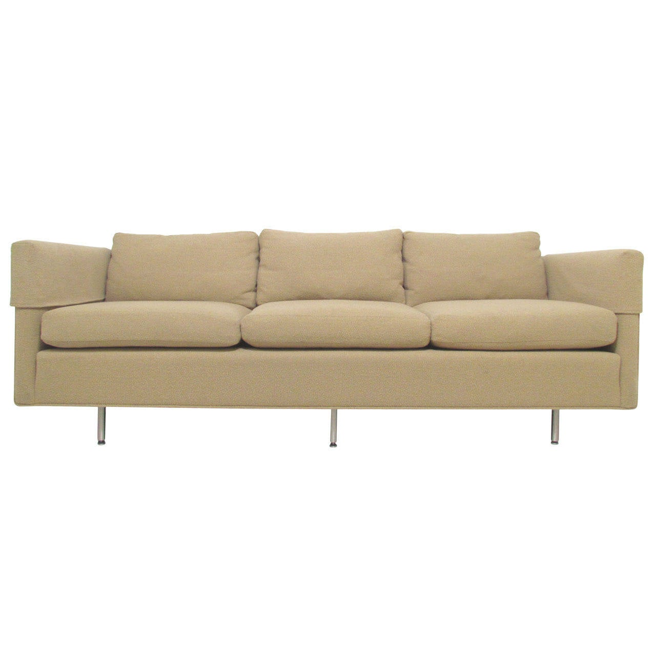 Tuxedo three seat quotcambridgequot sofa with down cushions by for Sectional sofa down cushions