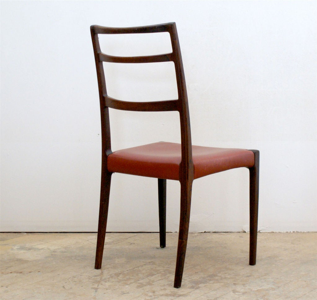set of six rosewood danish modern dining chairs at 1stdibs