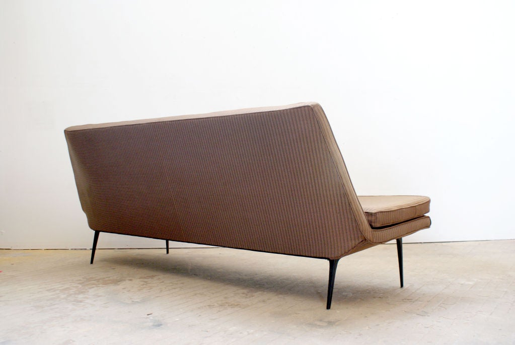 Armless Mid Century Modern Sofa With Tapered Legs Ca