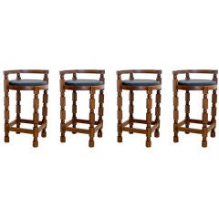 Set of Four Rosewood Barstools
