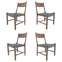 Rare Set of Four Rosewood Dining Chairs by Kofod-Larsen for Megiddo Collection