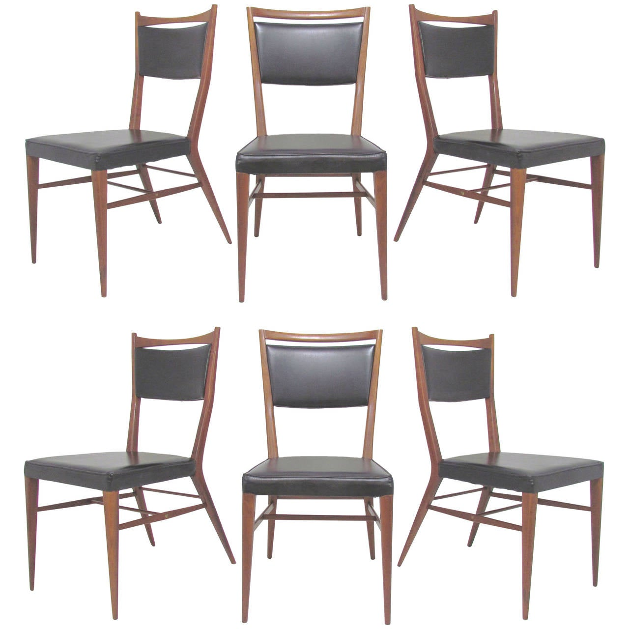Set of Six Paul McCobb Connoisseur Dining Chairs for H