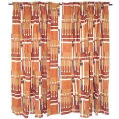 "Pair of Frank Lloyd Wright ""Taliesin Line""  Curtains ca. 1950s"