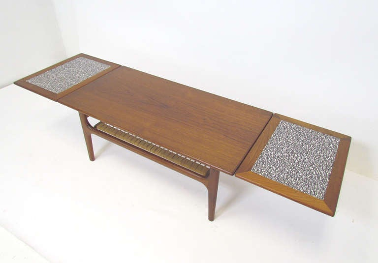 Expandable Coffee Table Magnificent Danish Teak Expandable Coffee Table Ca1960S At 1Stdibs Decorating Design
