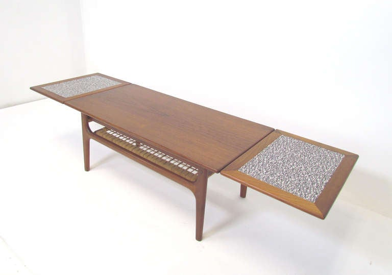 Danish teak expandable coffee table ca 1960s at 1stdibs - Telescopic coffee table ...