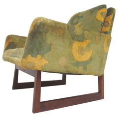 Rare Lounge Chair with Flared Arms by Jens Risom