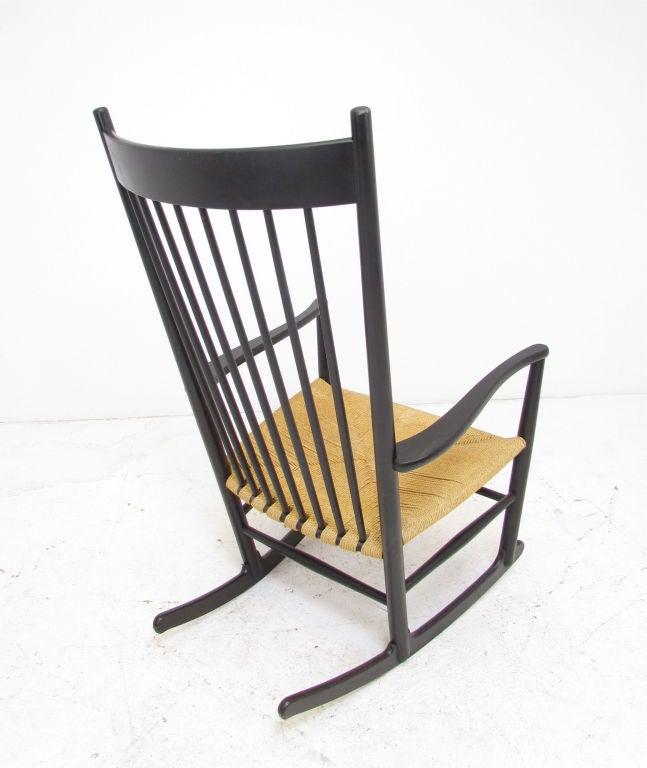 Wood Danish Rocking Chair by Hans Wegner for FDB Mobler