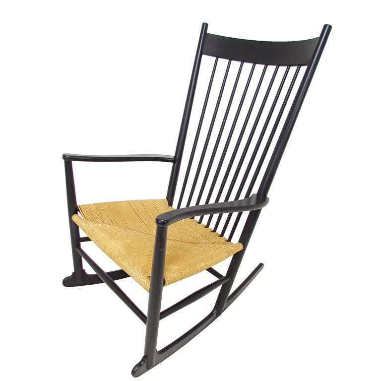 Danish Rocking Chair by Hans Wegner for FDB Mobler