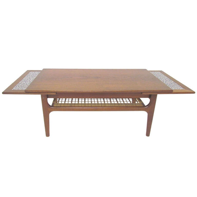 Danish Teak Expandable Coffee Table Ca 1960s At 1stdibs