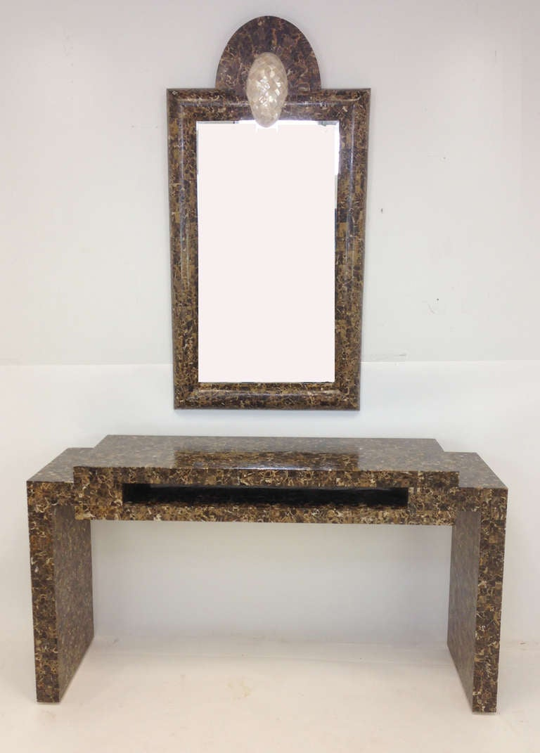 Maitland smith tessellated marble console table and mirror for maitland smith tessellated marble console table and mirror 2 geotapseo Images