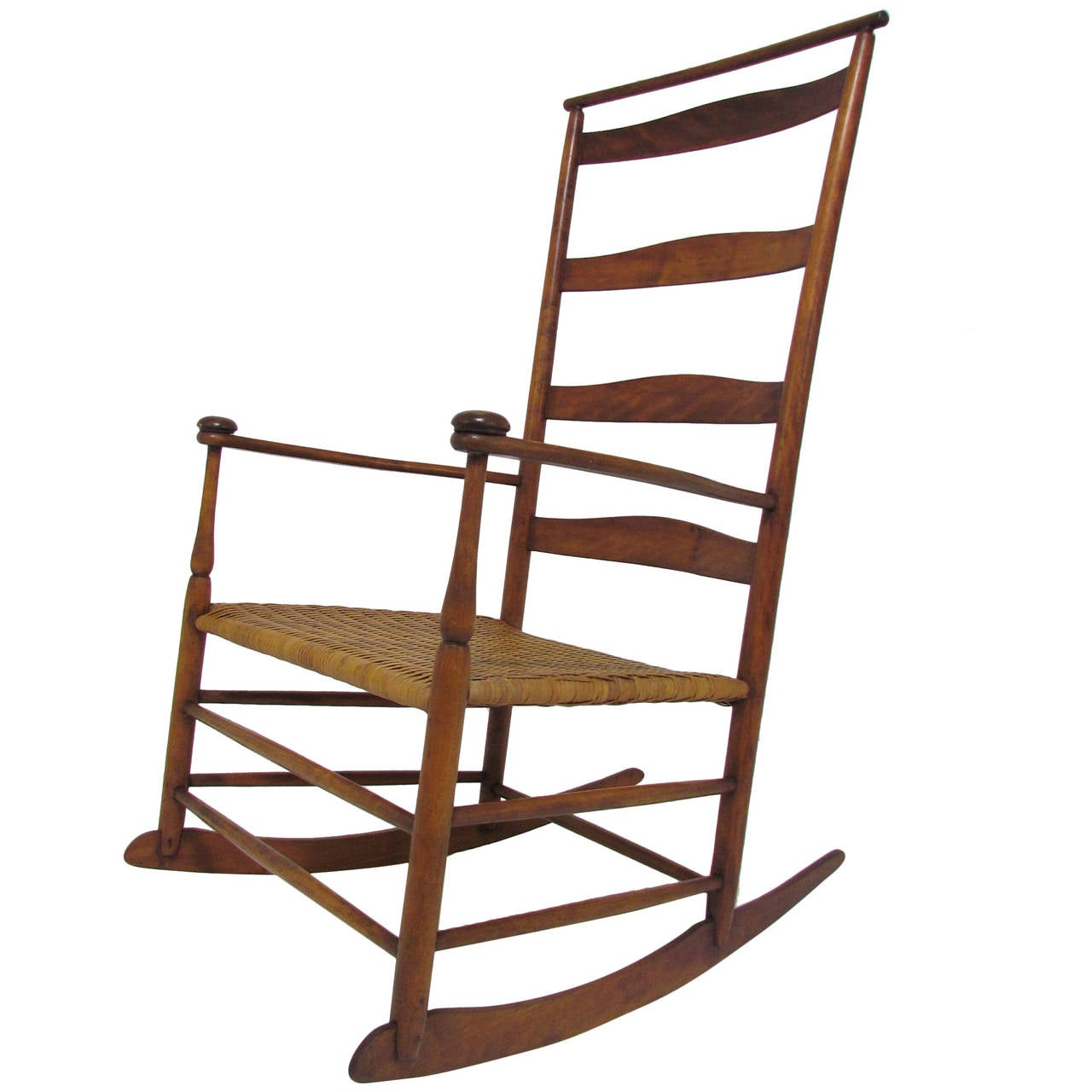 Antique Shaker No. 7 Rocking Chair with Shawl Bar 1 - Antique Shaker No. 7 Rocking Chair With Shawl Bar At 1stdibs