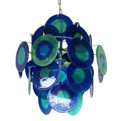 Colorful Chandelier in the Style of Vistosi