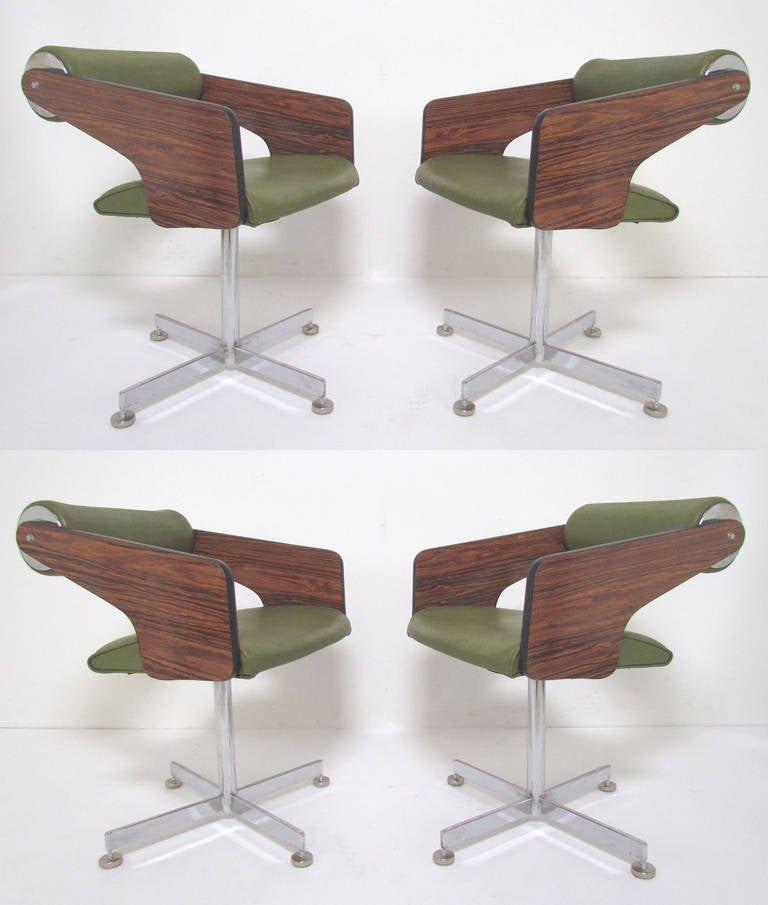 Missoni Home Dining Chair Miss: Set Of Four Space Age Swivel Dining Chairs By Luigi Tiengo