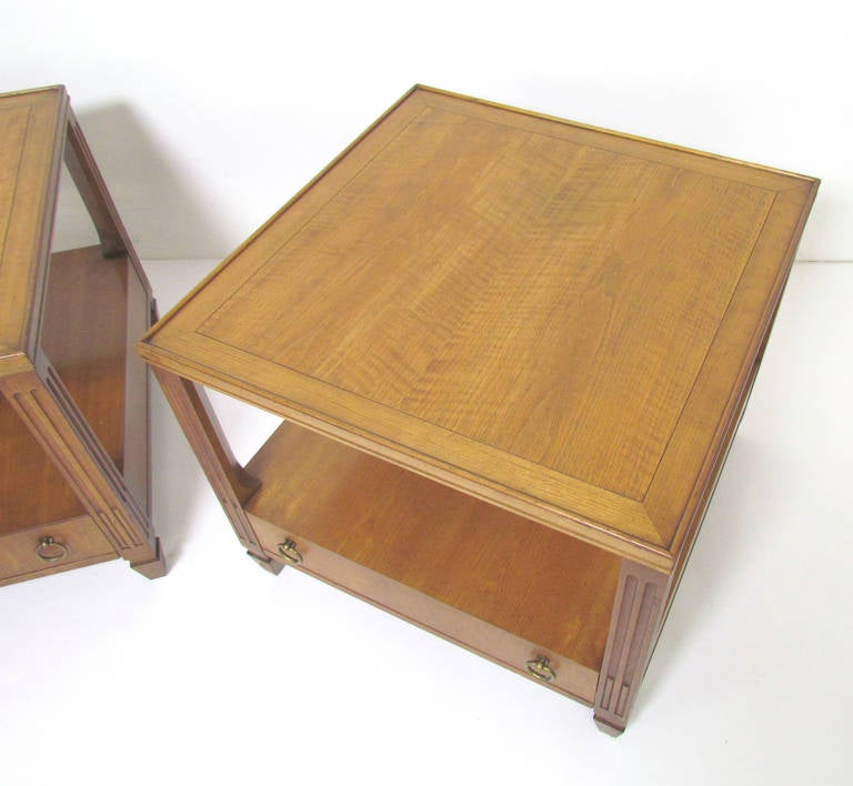 Pair Of Regency Style End Tables By Baker Furniture At 1stdibs