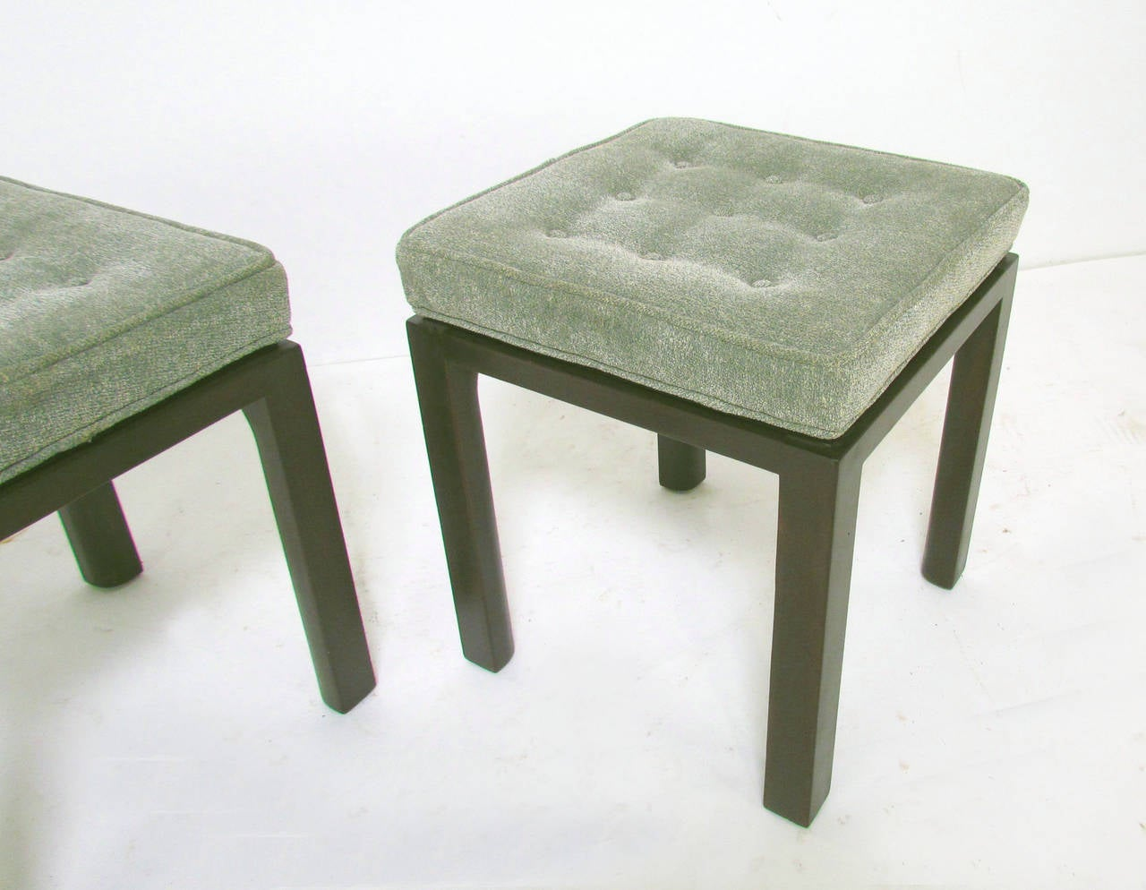 American Pair Of Mid Century Modern Stools By Harvey Probber For Sale