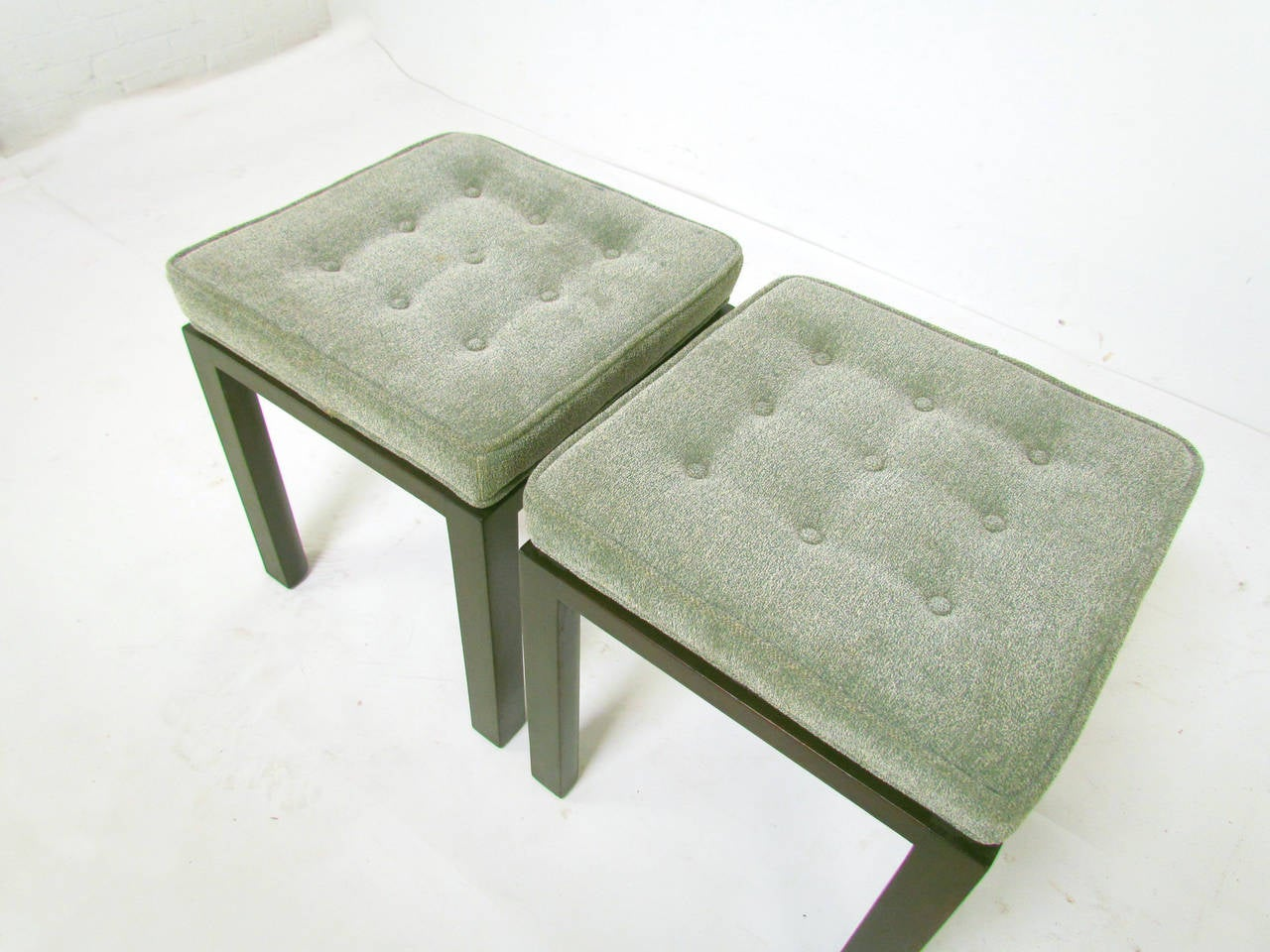 Mid 20th Century Pair Of Mid Century Modern Stools By Harvey Probber For  Sale
