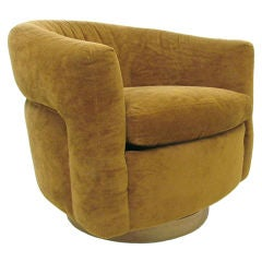 Tub Form Swivel Lounge Chair by Milo Baughman for Thayer Coggin