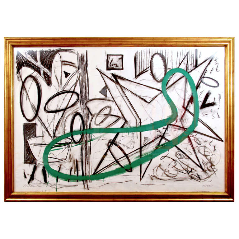 Peter Steves Figural Abstract on Paper, F234Mat