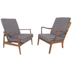 Two Early Danish Lounge Chairs by Vodder and Wanscher for France & Daverkosen