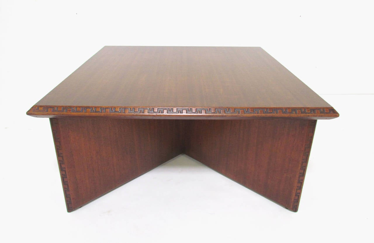 Mid Century Coffee Table By Frank Lloyd Wright For Heritage Henredon At 1stdibs